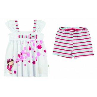 f007862cbe Conjunto Infantil Boca Grande Bata e Shorts Feminina