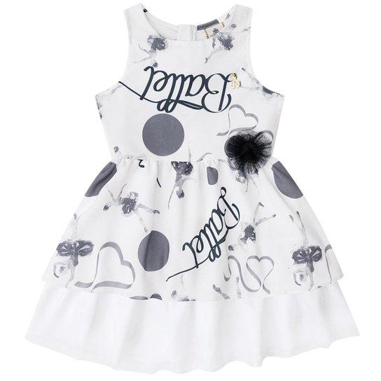 6ff3e4686f Vestido Infantil Boca Grande Feminino Ballet - Branco