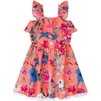 d83ca7dfcc Vestido Infantil Floral Boca Grande