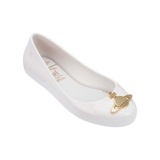 a8f1ad49a50 Sapatilha Infantil Melissa Vivienne Westwood Anglomania + Mel Space Love  Mulher - Branco