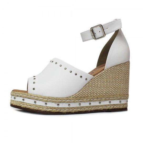 af1cbdc9bd Sandália Damannu Shoes Laura Napa - Branco - Compre Agora