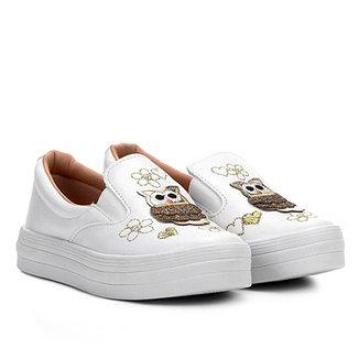 226818520b Slip On Infantil Menina Fashion Corujas Feminino