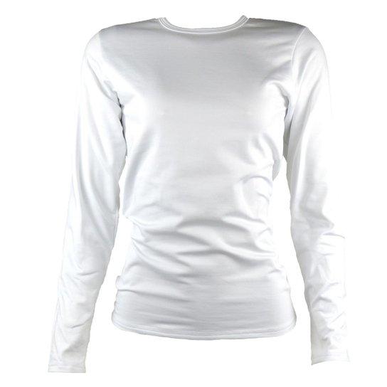 Camisa Térmica Feminina Segunda Pele Thermo Premium - Branco ... 719bc869a2984