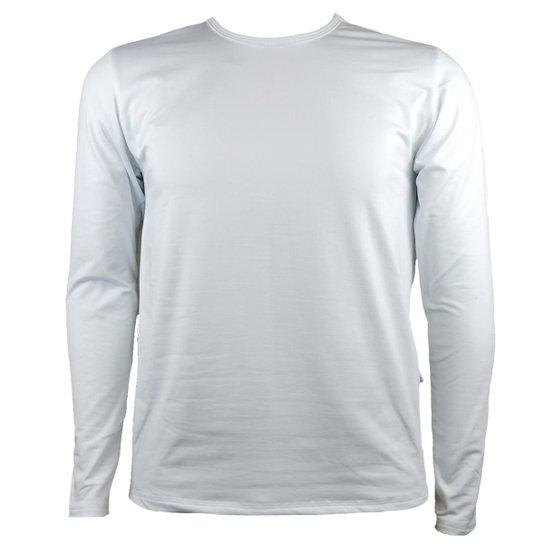810b26046 Camisa Térmica Masculina Segunda Pele Thermo Premium - Branco