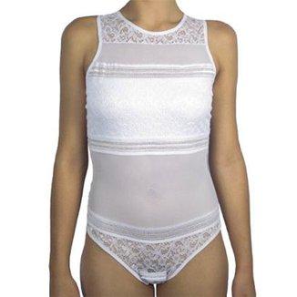 4f25aaab6b Body Feminino Liebe Com Renda E Detalhes Em Transparência