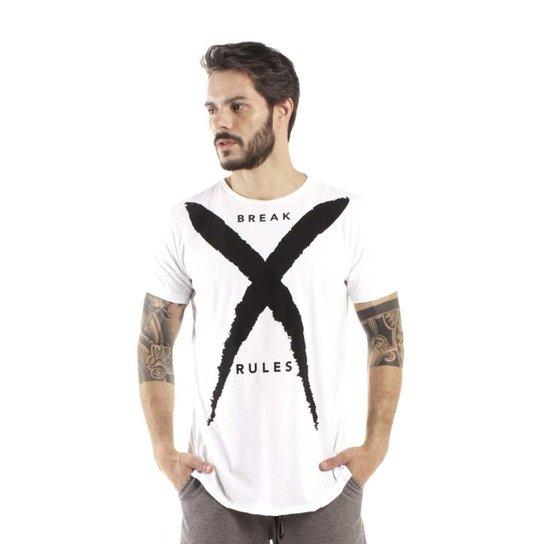 Camiseta Brohood Longline Curve Break Masculina - Branco - Compre ... 6f845f7c71b