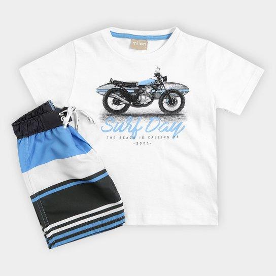 e93ed5a12 Conjunto Infantil Milon Camiseta e Bermuda Masculina - Compre Agora ...