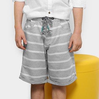 c6c98af68b8db Conjunto Infantil Milon Camisa Tricoline e Bermuda Masculino