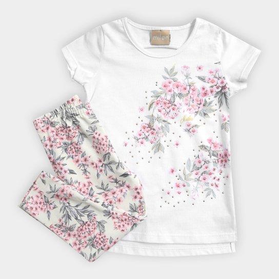 f3b482d292eda Conjunto Infantil Milon Floral Feminino - Compre Agora