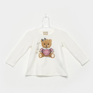 4e5284d13c Blusa Infantil Milon Estampa Urso Feminina