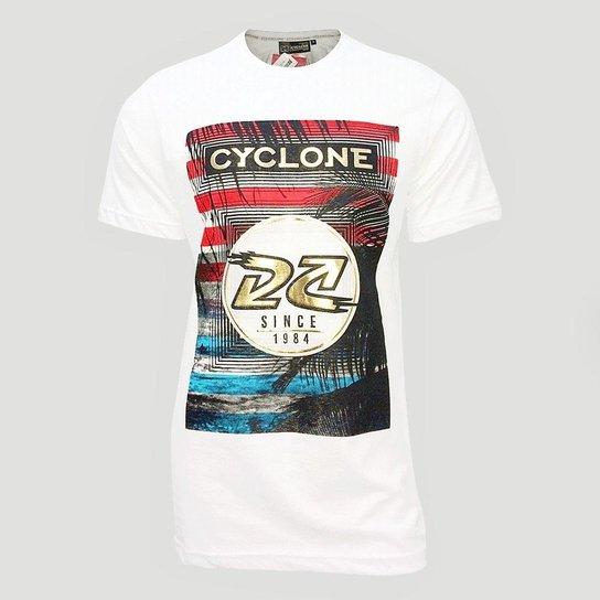 e0d1908c4a Camiseta Cyclone Paradise Metal Masculino - Branco - Compre Agora ...