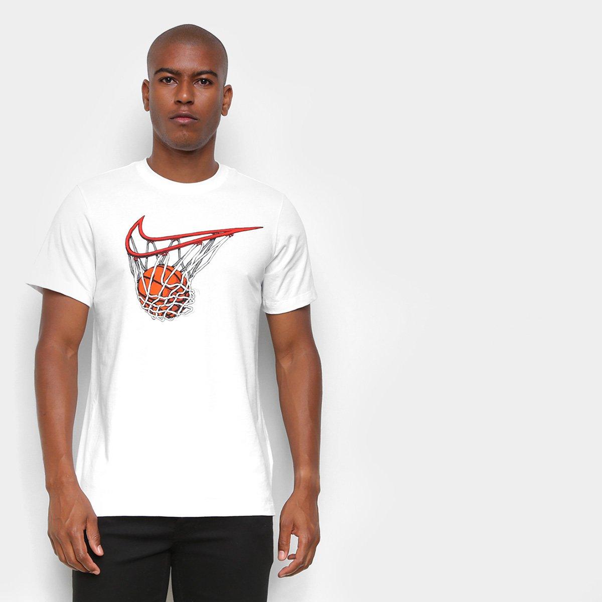 Camiseta Nike Dry Swish Swoo Cesta Logo Masculina