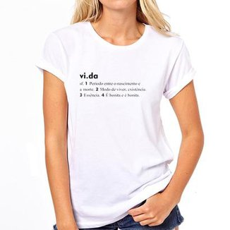 7af68237d1cc1 Camiseta Coolest Vida Feminina