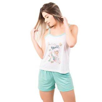 76baf551f Pijama Bella Fiore Short Doll Regata Juliana
