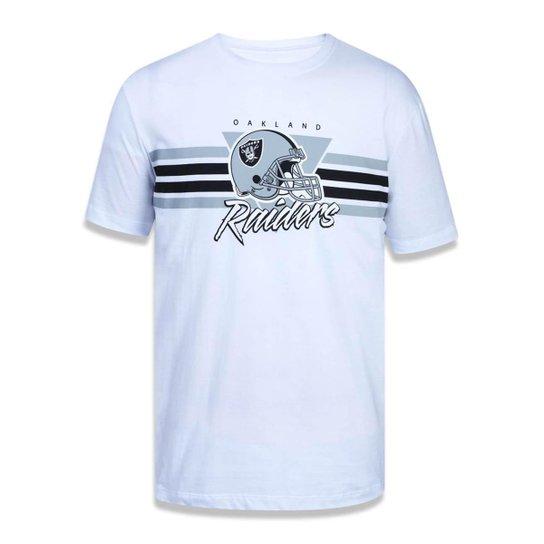 Camiseta Oakland Raiders NFL New Era Masculina - Branco - Compre ... a8f524ed5b3d4