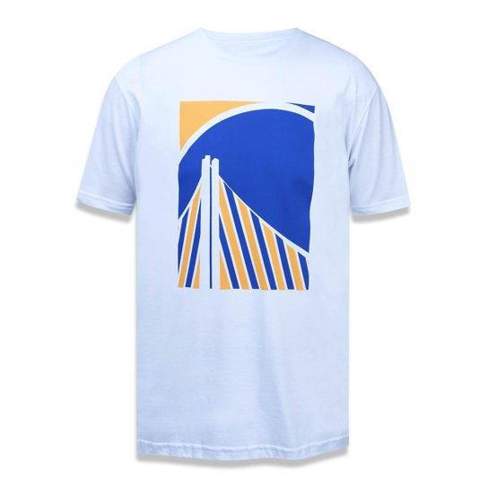 154dd4dc7 Camiseta Golden State Warriors NBA New Era Masculina - Branco ...