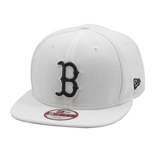 fcde86e031265 Boné New Era Snapback Original Fit Boston Red Sox - Branco - Compre ...