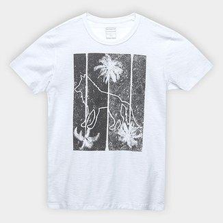 cbe480c5a Camiseta Infantil Acostamento Lobo Masculina