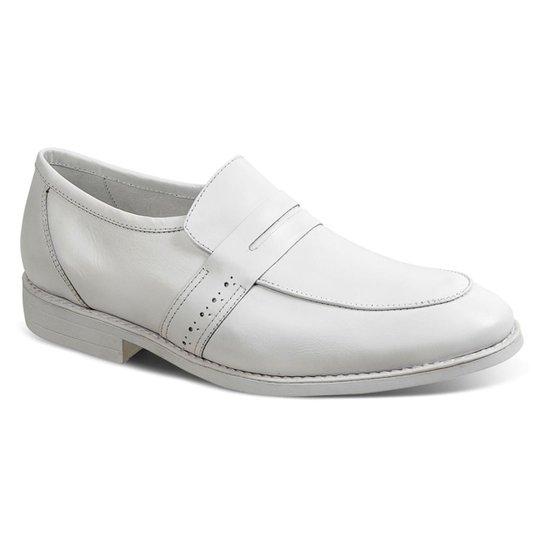 5dfaad2cf Sapato Casual Couro Sandro Moscoloni Doctor Comfort Masculino - Branco