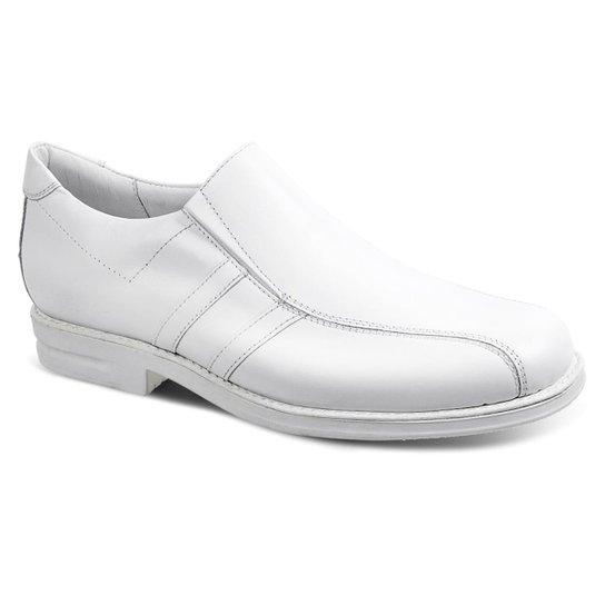 3bc3583d5 Sapato Conforto Couro Sandro Moscoloni Doctor Comfort Masculino - Branco