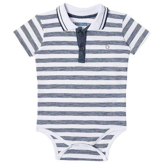 Body Bebê Luc Boo Gola Polo Listras Masculino - Branco - Compre ... 6edeafd1189e6