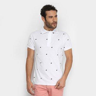 Camisa Polo UP Mini Print Masculina c2cd88bf60e05