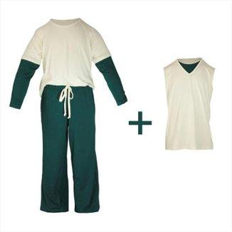 bd3dec790 Pijama Infantil Gummi Asbjorn 3 peças Masculino
