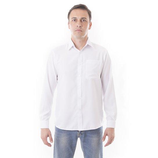 Camisa Social Lisa Microfibra - Manga Longa - Vuzillo - Compre Agora ... 366a3669b4