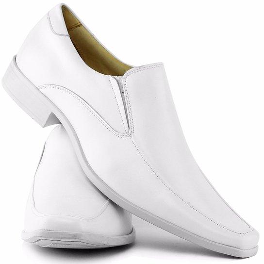 fc1a004a5 Sapato Social Gofer Em Couro Legítimo Masculino 261 - Branco ...