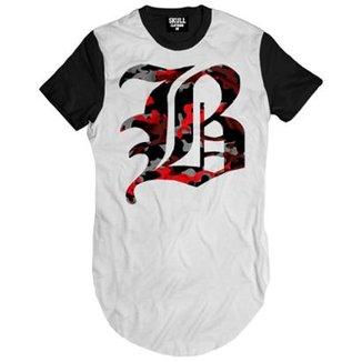 Camiseta Longline Brooklyn Camuflado Masculina 3fd67b25f18