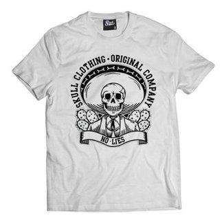 fa2dcae6575af Camiseta Skull Clothing No Lies Masculina