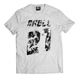 03c89a9e87 Camiseta Skull Clothing 21 Masculina
