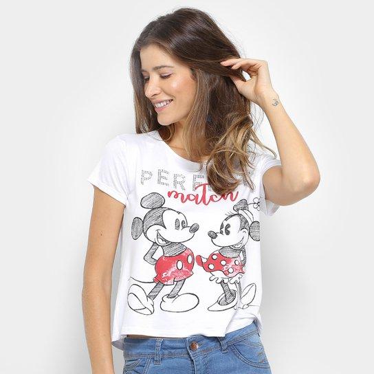 dfe938d81 Camiseta Cativa Disney Mickey Minnie Hotfix Feminina - Compre Agora ...