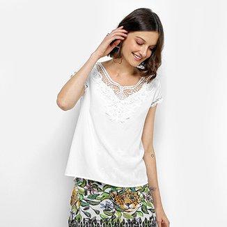 48185b0351 Blusa Sofia Fashion Guipir Feminina