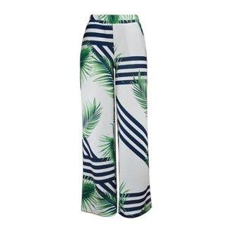 aa3c4a0cf8 Calça KNT Pantalona Estampada Feminina