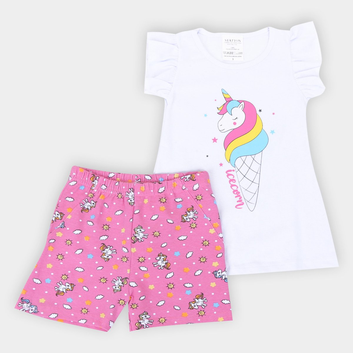 Conjunto Infantil Candy Kids Unicorn Feminino