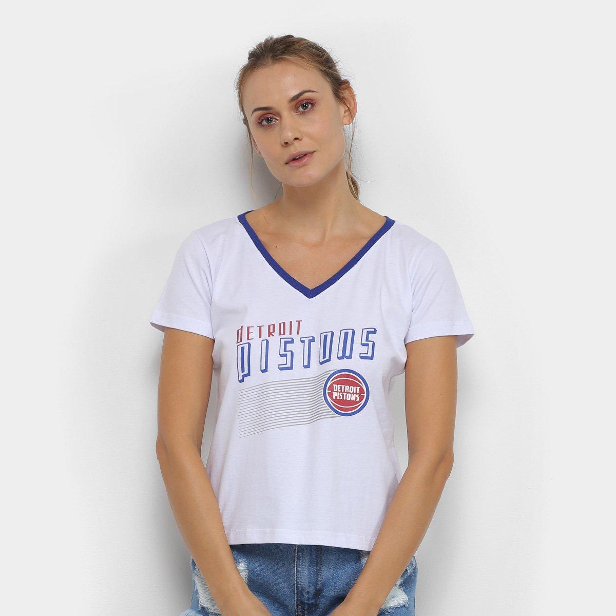 Camiseta NBA Detroit Pistons Est Advance Feminina