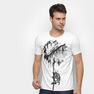 7a94250162 Camiseta Derek Ho Skull Flower Masculina