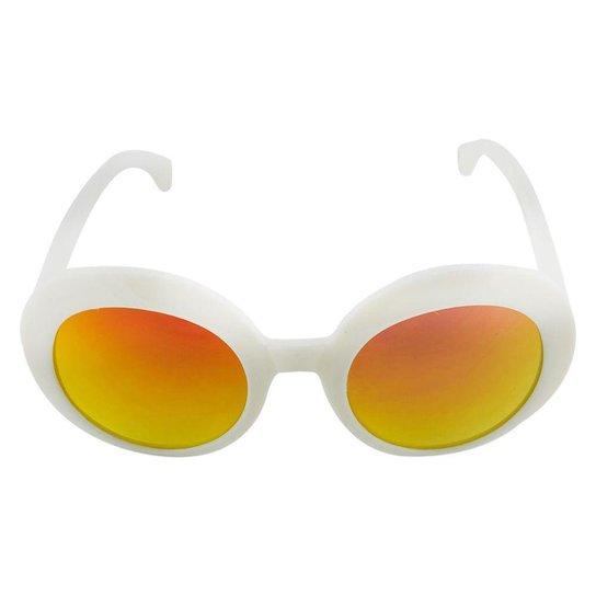 Óculos de Sol Khatto Infantil Bruninha Retrô Feminino - Branco ... fd67197d71