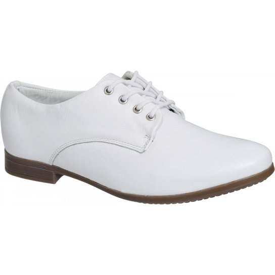 5aef64b7f8 Sapato Oxford Branco Couro Legítimo - Compre Agora