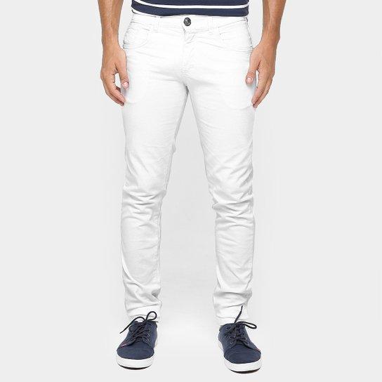 0563b7721 Calça Skinny Preston Color Masculina - Branco - Compre Agora