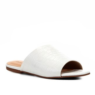 Rasteira Shoestock Slide Croco