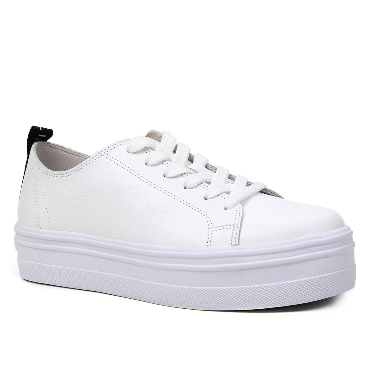 Tênis Couro Shoestock Básico Flatform Feminino