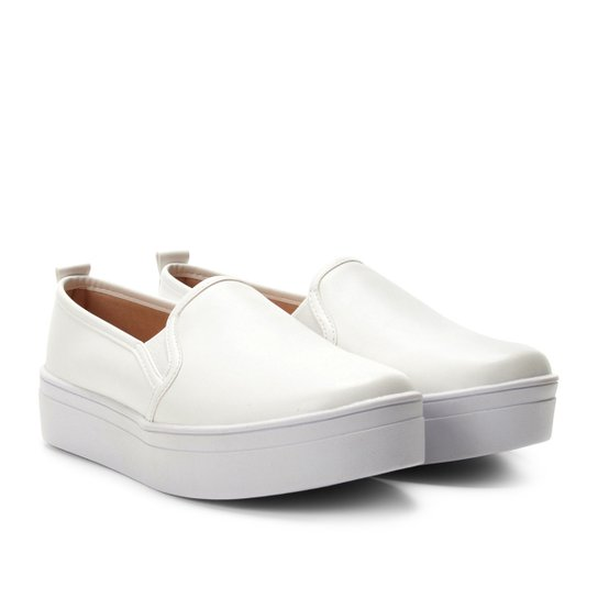 49732dbde0 Slip On Somoda Caixa Alta Básico Feminino - Branco - Compre Agora ...
