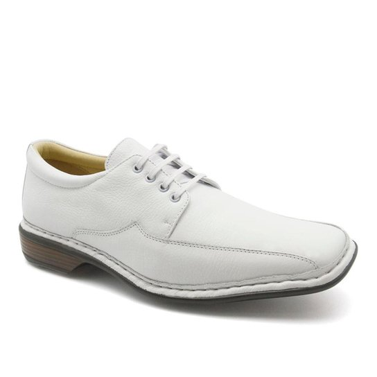 933ca9113 Sapato Social Couro 3026 Floater Doctor Shoes Masculino - Branco ...