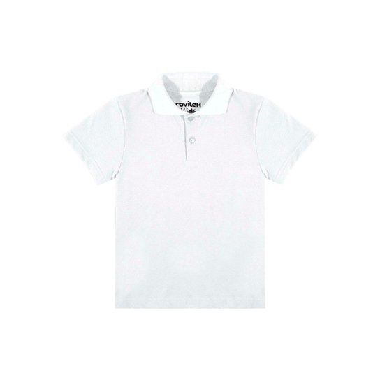 Camisa Polo Infantil Rovitex Kids Masculina - Branco - Compre Agora ... b631a4df714fc