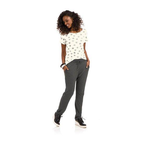 Blusa Viscotorcion Rovitex Feminina - Branco - Compre Agora  b9c43083570