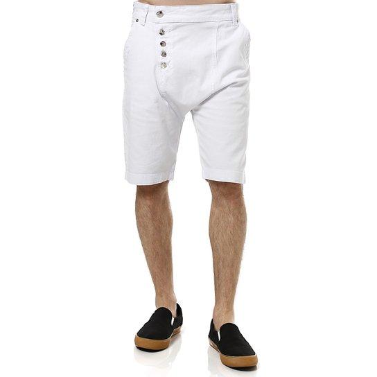 d4001035b9 Bermuda Jeans Masculina Bivik Saruel Branco - Compre Agora