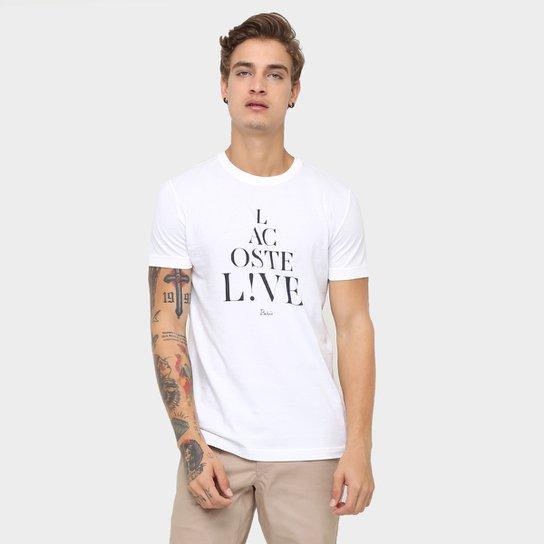 bfe7ca5dede89 Camiseta Lacoste Live Paris - Compre Agora   Zattini