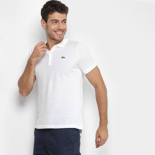48d9a0f4cd Camisa Polo Lacoste Live Piquet Masculina - Branco - Compre Agora ...